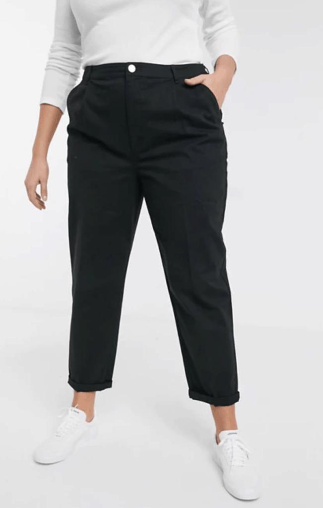 Morphologie En V Pantalon Droit Pinces Femme