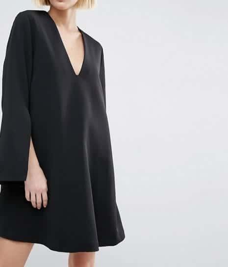 17 id es de looks pour porter la robe noire. Black Bedroom Furniture Sets. Home Design Ideas