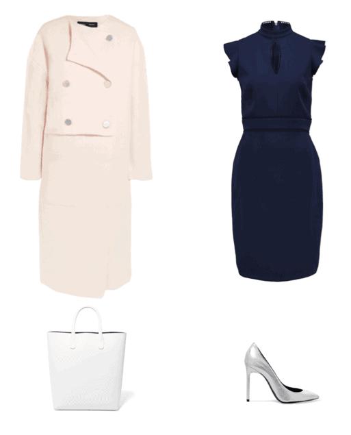 e011be974f tenue bleu marine, robe bleu marine, quelle couleur associer avec une robe  bleu marine