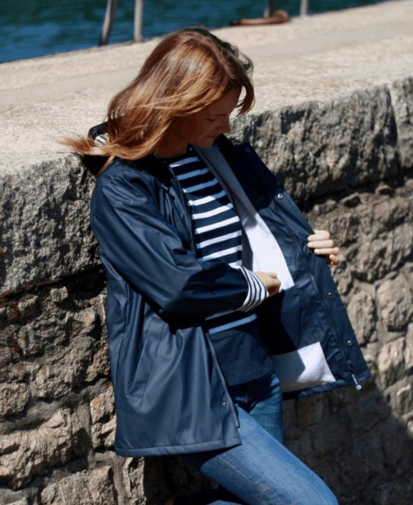Tenue De Pluie Femme Cire Bleu Marine