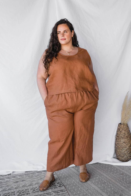 marque ethique grande taille sotela pantalon fluide