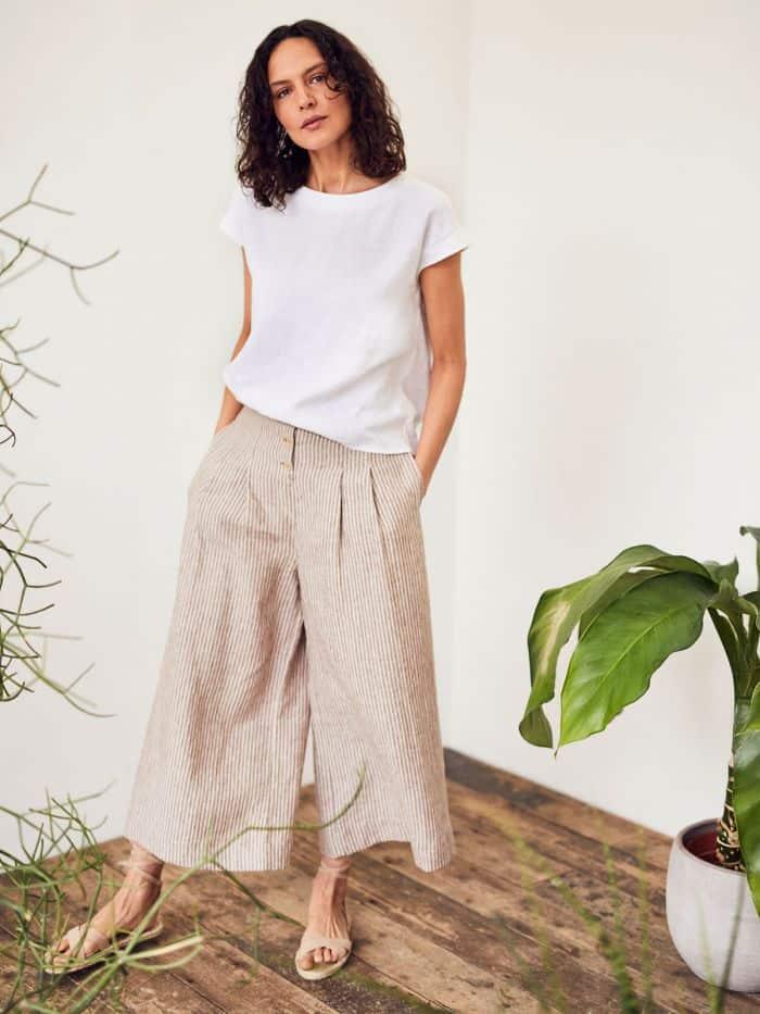 marque ethique thought pantalon evase