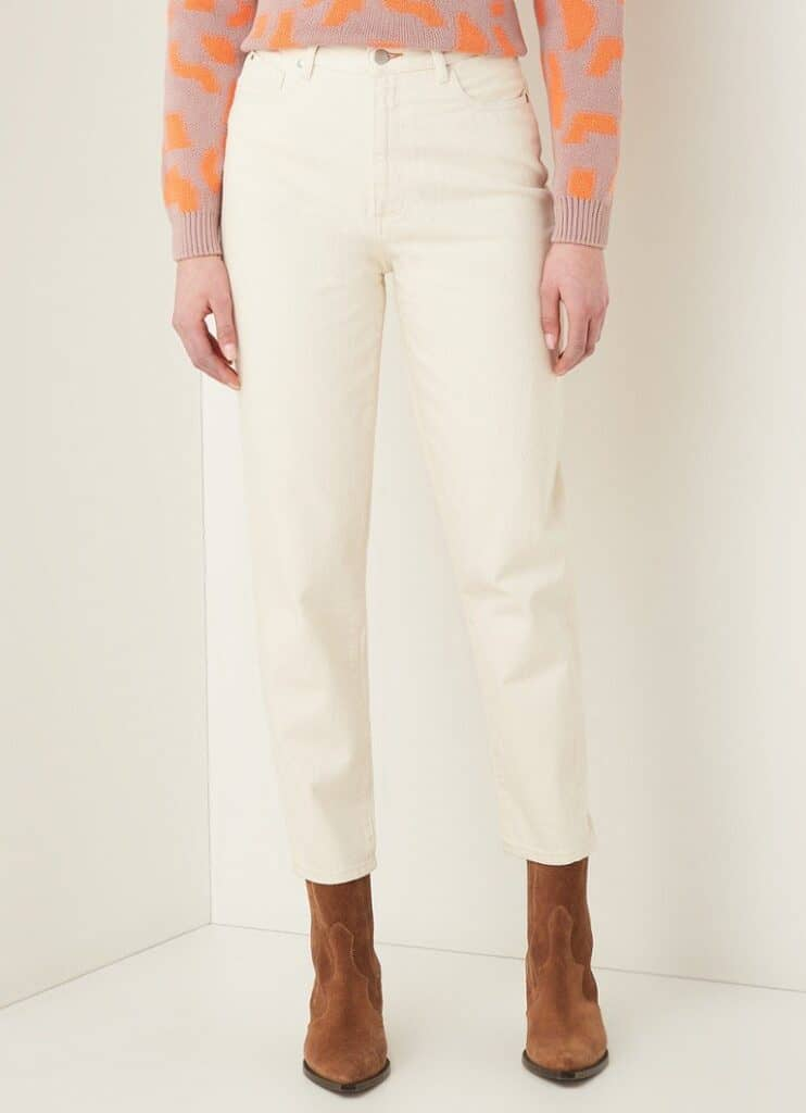 Marque jean éthique Armed Angels, Mom jean taille haute blanc