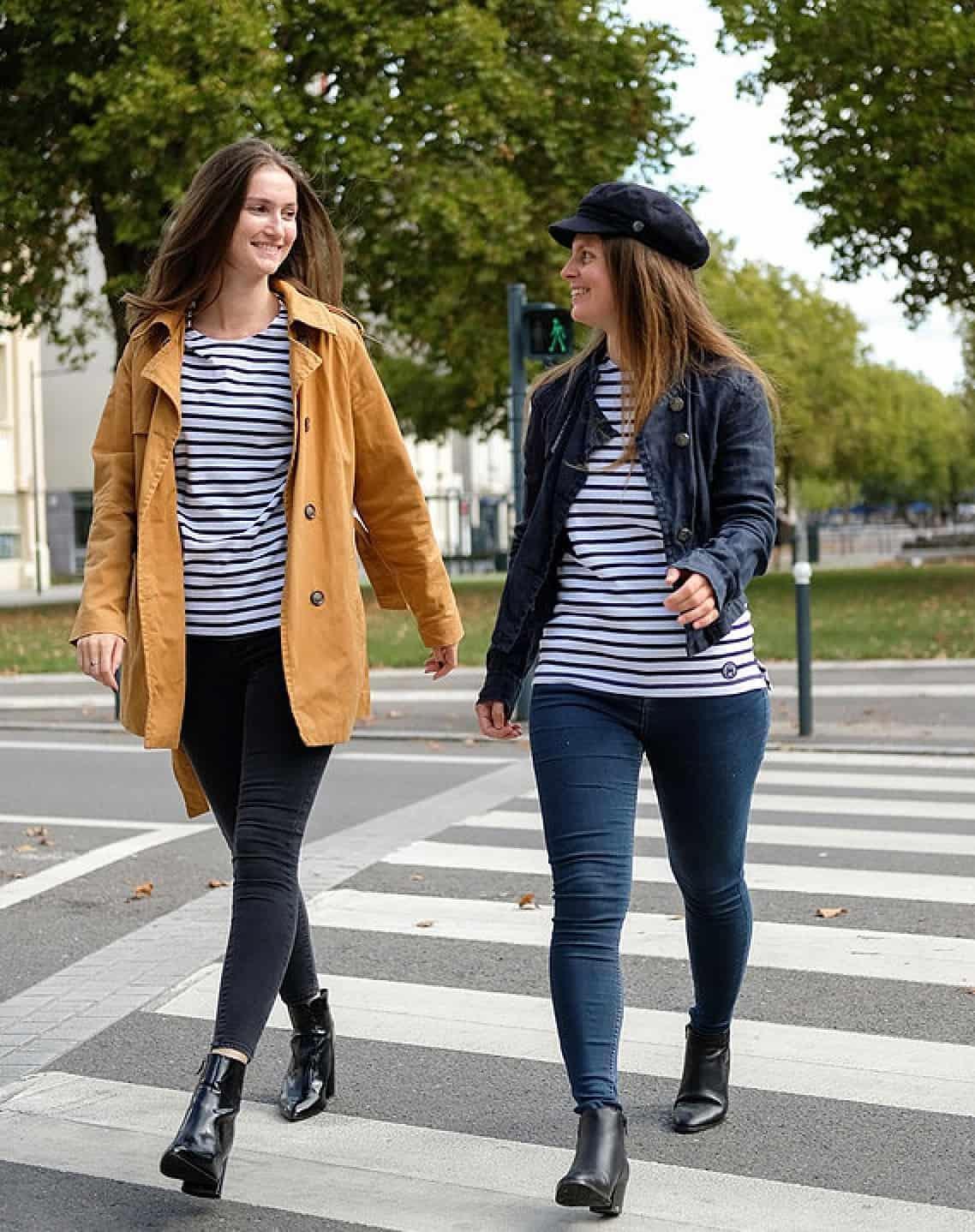 T-shirt marinière éco-responsable et éthique Coton Vert en coton bio