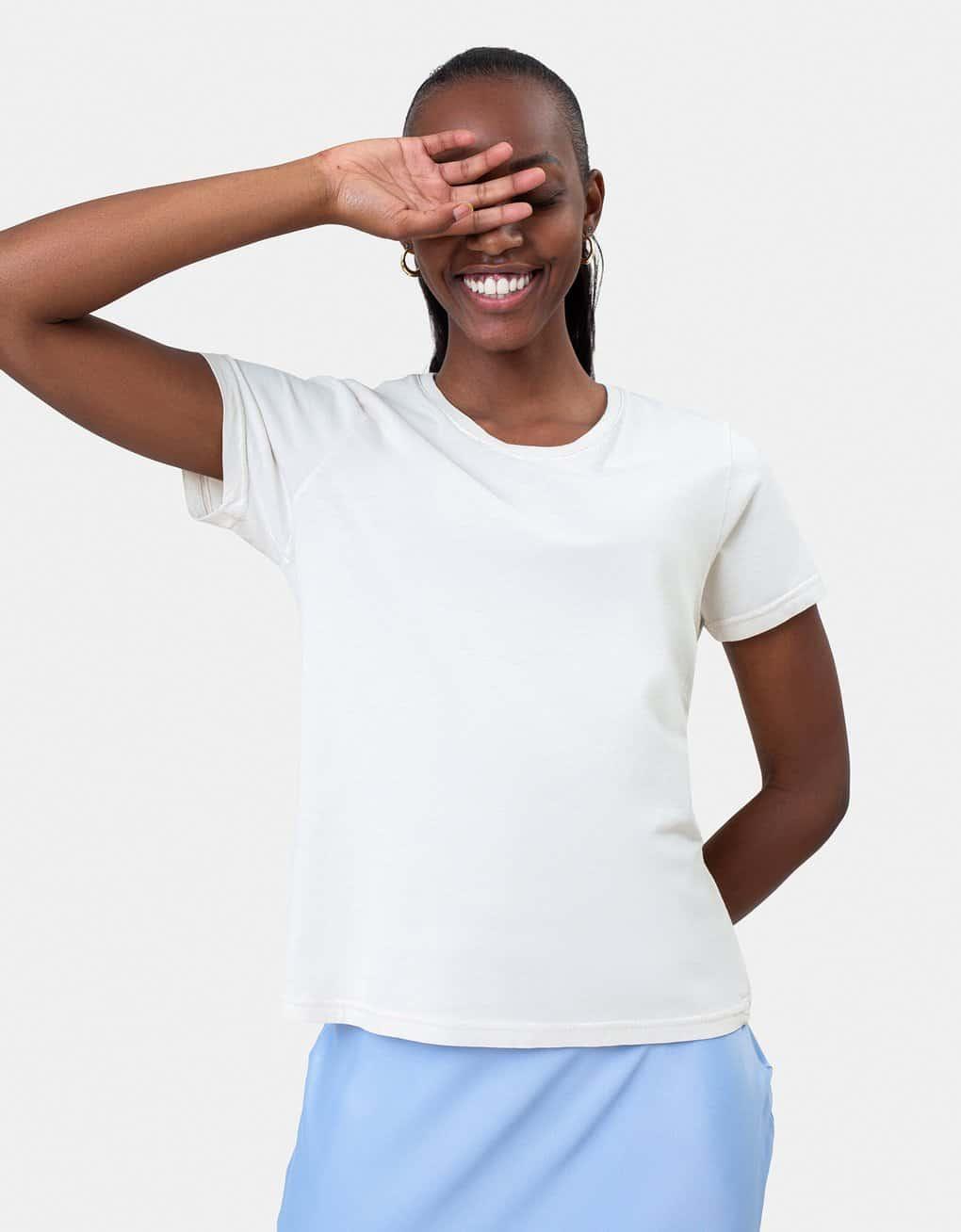T-shirt éthique en coton bio blanc Colorful Standard