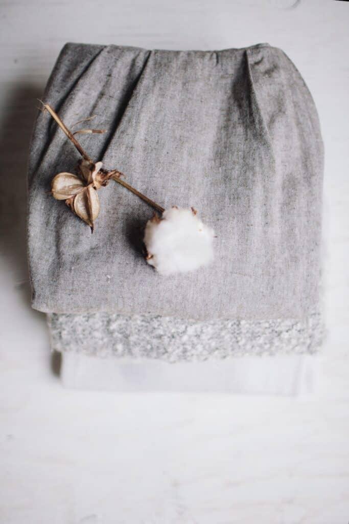 Fleur de coton bio pour un t-shirt éthique d'une boutique écologique