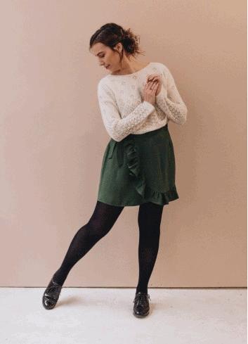 comment porter la robe portefeuille longue automne