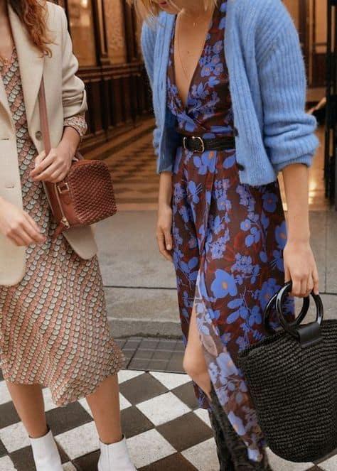 robe portefeuille imprimee comment porter